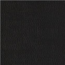 Flannel Backed Faux Leather Deluxe Black Fabric