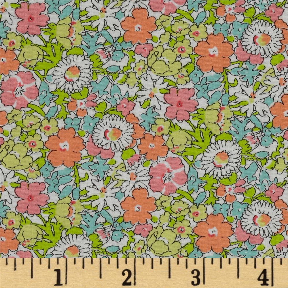 Liberty of London Tana Lawn Delilah Cavendish Peach/Aqua