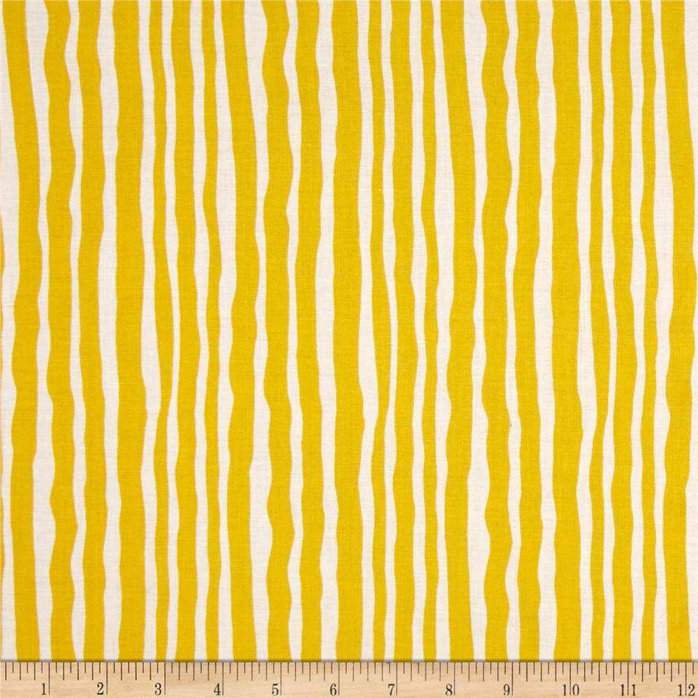 Contempo Palm Springs Palm Stripe Yellow/White