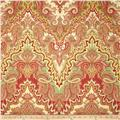 Waverly Paisley Verse Slub Crimson