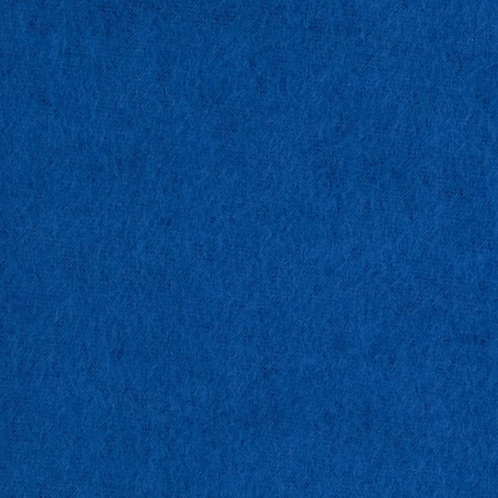 Warm Winter Fleece Solid Denim Blue Fabric