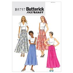 Butterick Misses' Skirt Pattern B5757 Size 0Y0