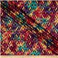 Indian Batik Montego Bay Gold Chevron Dusty Multi