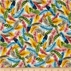 Birds of A Feather/Feathers Gold Fabric