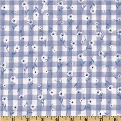 Woven 1/4'' Daisy Gingham Blue