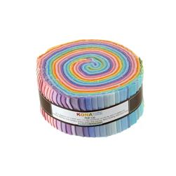 "Kona Cotton New Pastel 2.5"" Roll Ups"
