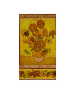 "Kaufman Vincent Van Gogh 2 Sunflower Vase 24"" Panel"