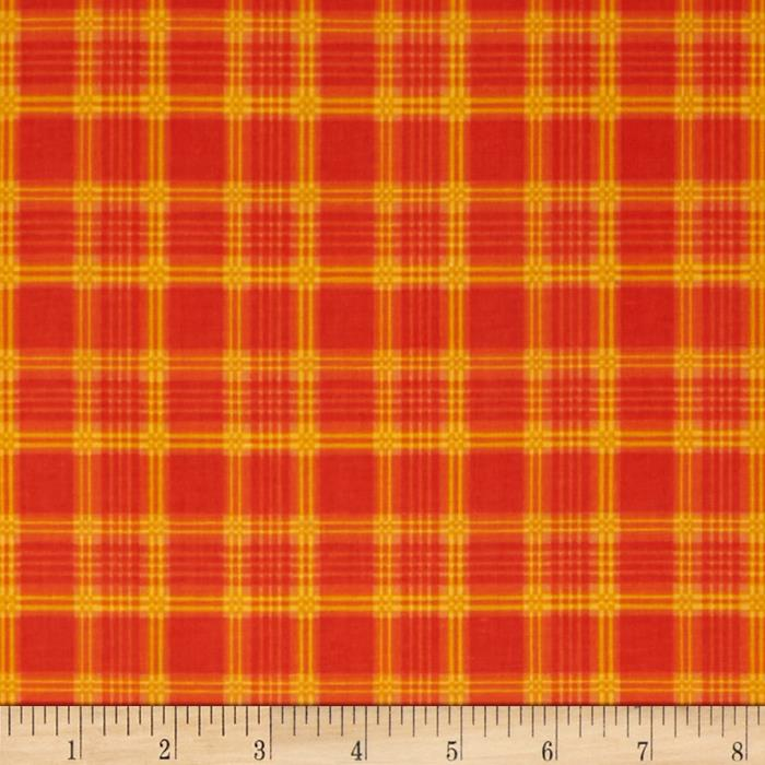 Harvest Plaid Orange