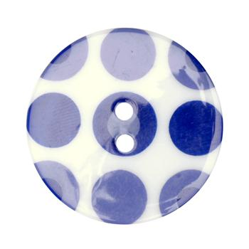 Fashion Button 1-3/8'' Confetti Circles White/Blue