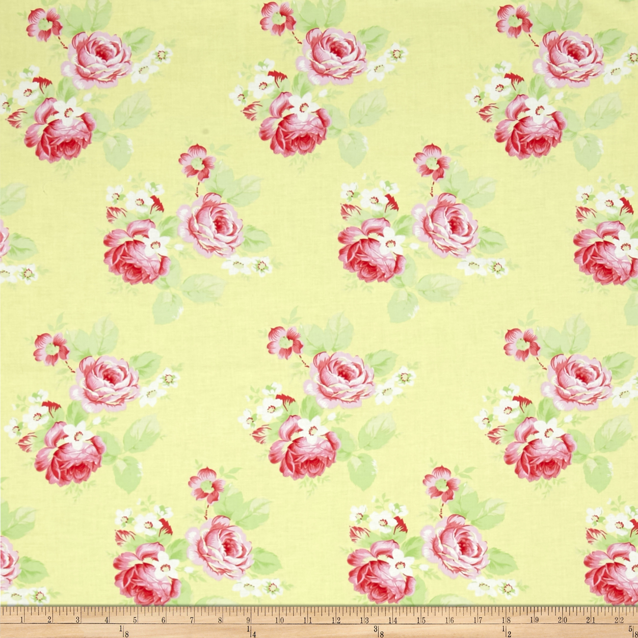 Tanya Whelan Lola Roses Yellow Fabric by Westminster in USA