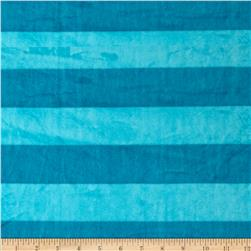 Minky Wide Stripe Cuddle Caribbean/Scuba