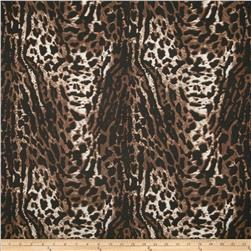Stretch ITY Jersey Knit Animal Print Brown