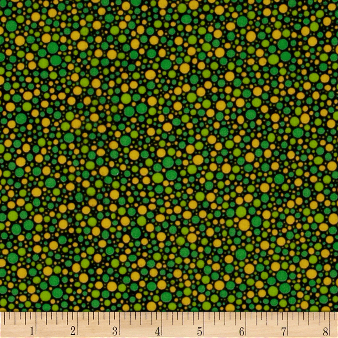 Underwater Friends Flannel Bubbles Green Fabric