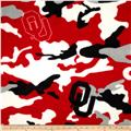 University of Oklahoma Fleece Camo Red