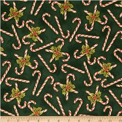 Holly Jolly Metallic Candy Cane Evergreen