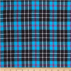 Windstar Flannel Plaid Aqua