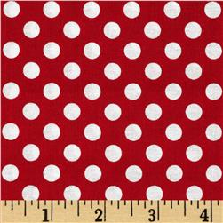 Eggcellent Adventure Dots Red/White Fabric