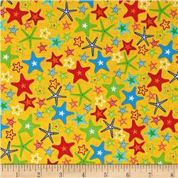 Fun At The Beach Stars Yellow