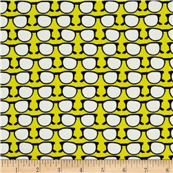 Glasses Dobby Crepe Print Yellow/Black