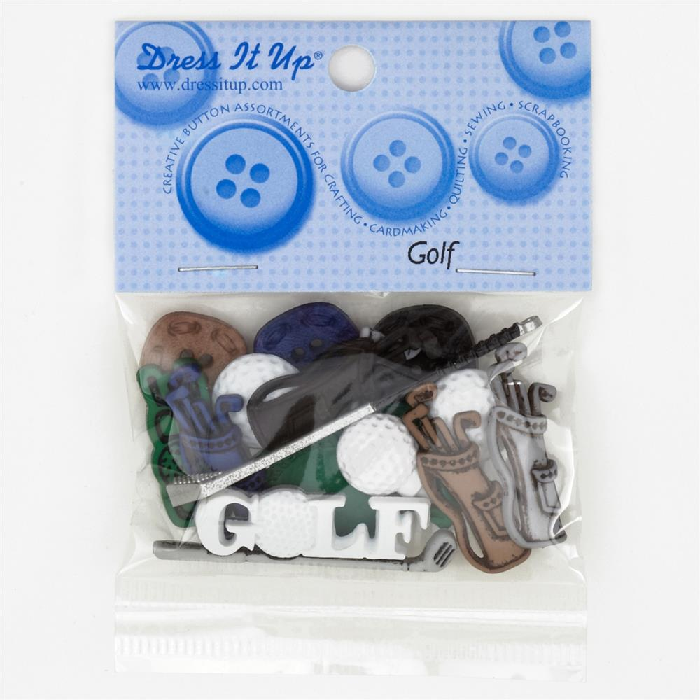Dress It Up Embellishment Buttons  Golf