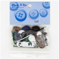 Dress It Up Embellisment Buttons  Golf