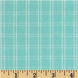 Flannel Plaids & Stripes Aqua