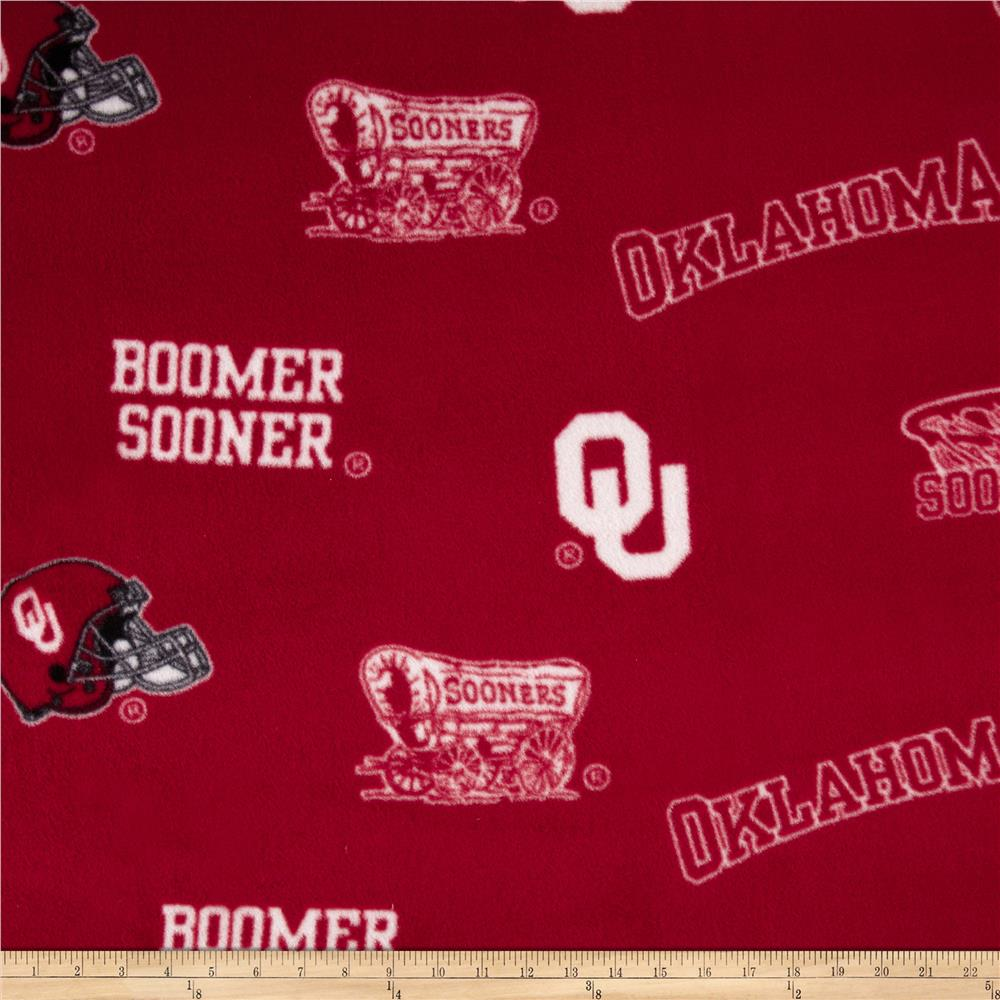 Collegiate Fleece University of Oklahoma Allover Crimson