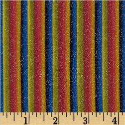 Michael Miller Gummy Stripe Rainbow Fabric