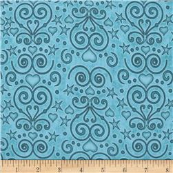 Healing Hearts Scroll Teal