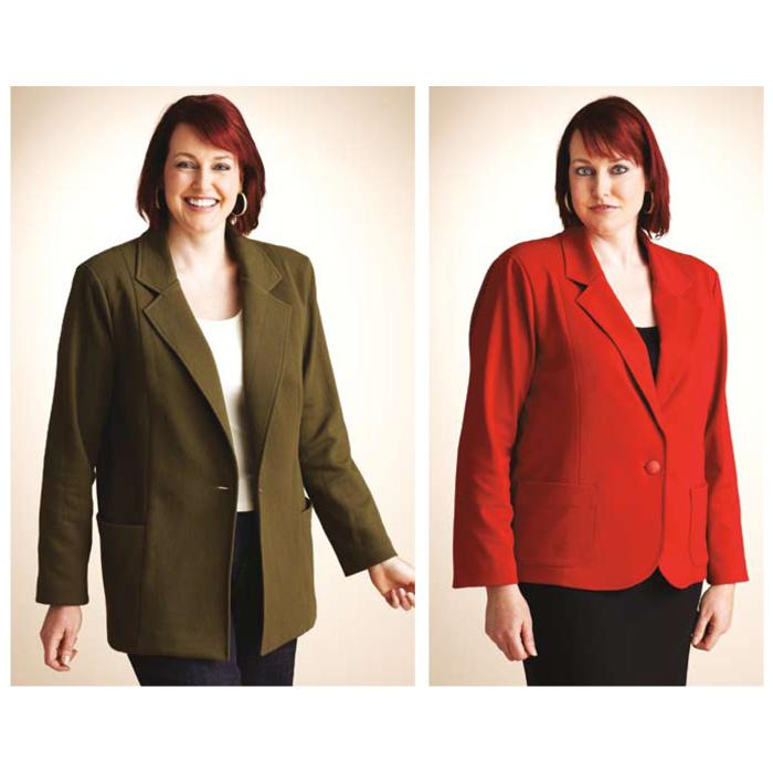 Kwik Sew Women's Knit Blazer Jacket Plus Size