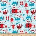Christmas Ooga Boogas Stretch Cotton Jersey Knit Red/Blue