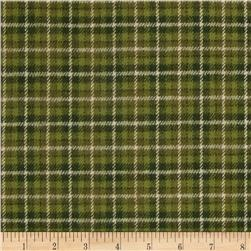 Primo Plaids Christmas Flannel Small Plaid Green