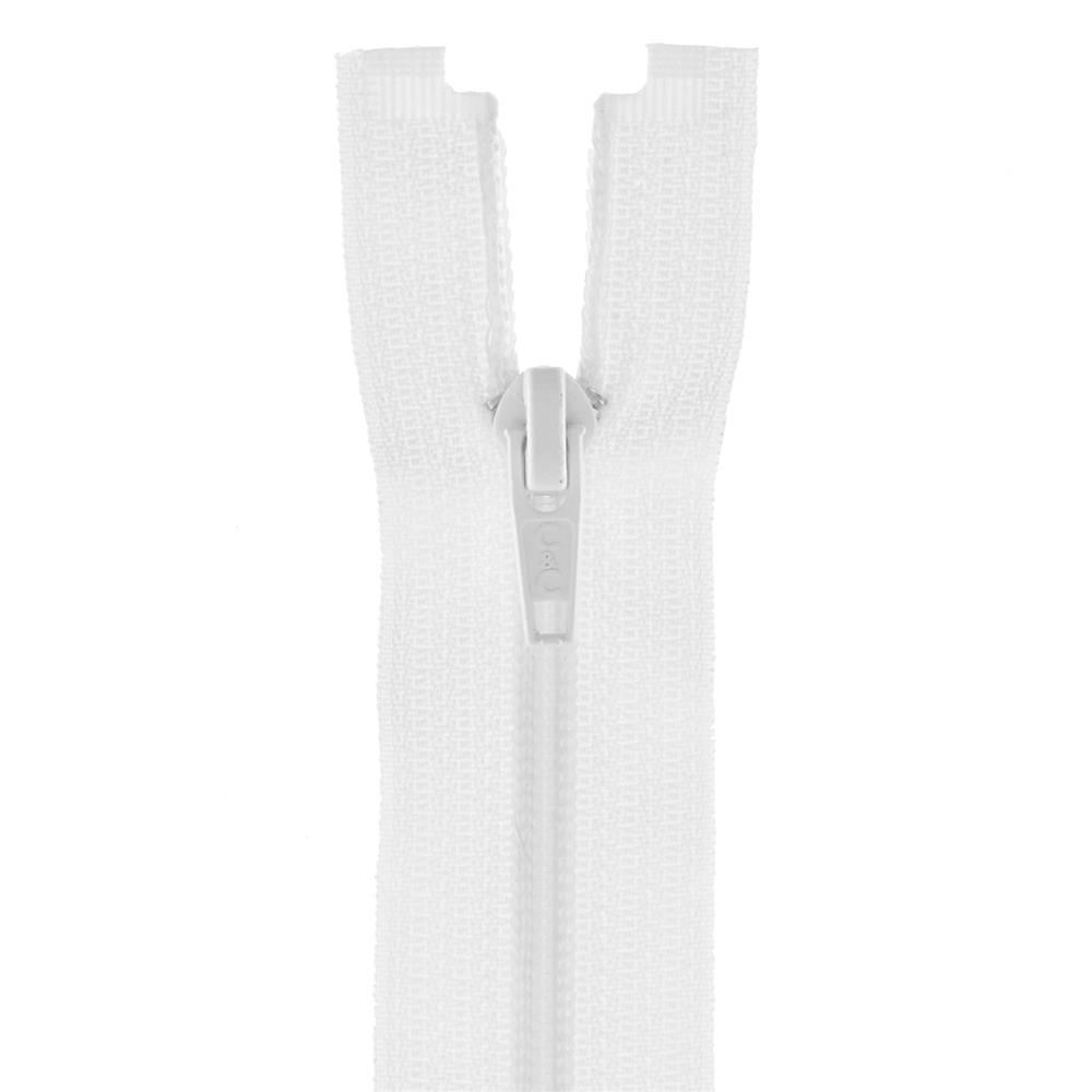 "Coats & Clark Coil Separating Zipper 22"" White"