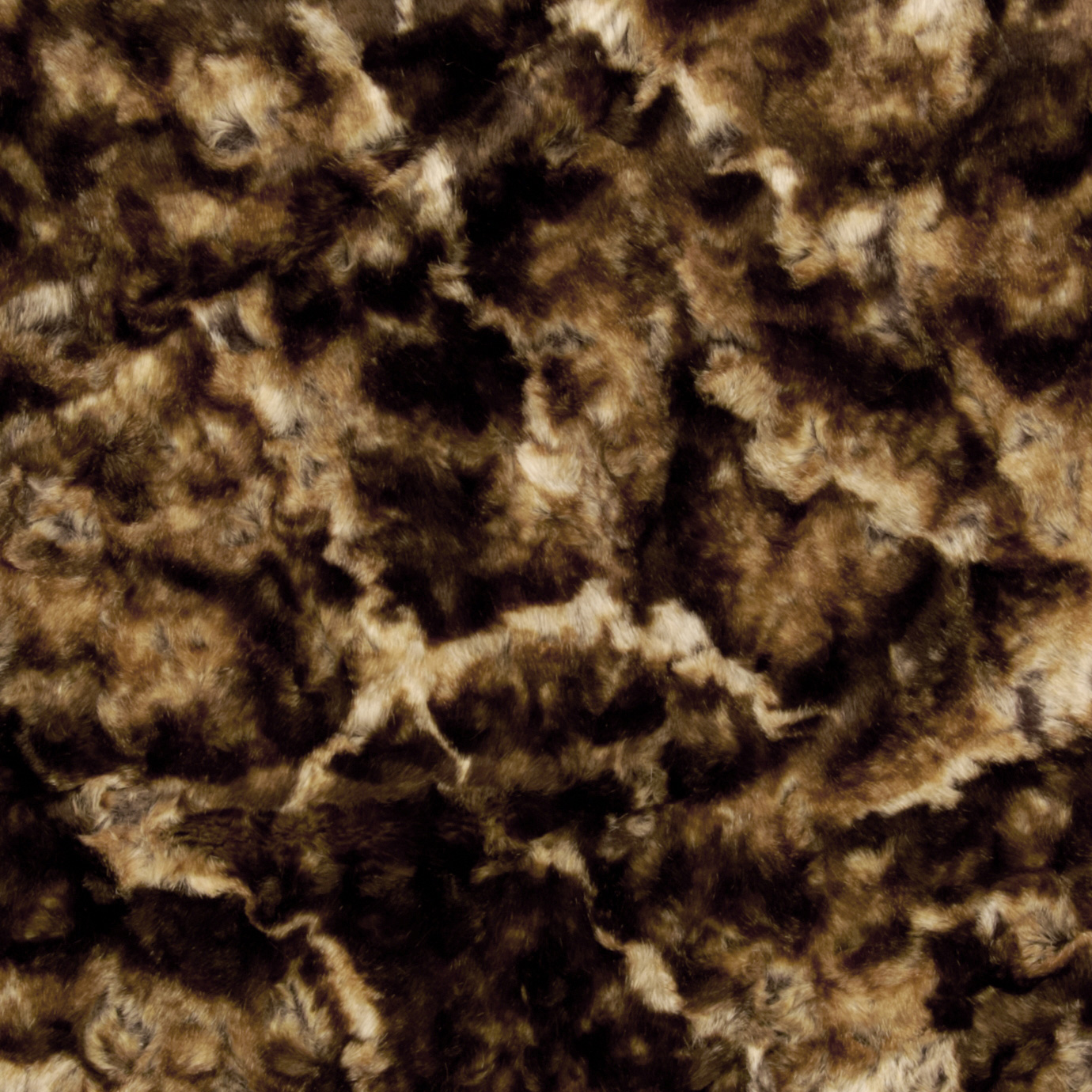 Faux Fur Alaskan Rabbit Caramel/Brown Fabric