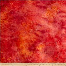 "Timeless Treasures 106"" Batik Cosmic Sky Fire"