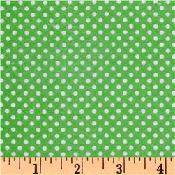 Timeless Treasures Flannel Dot Green