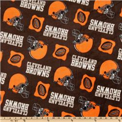 NFL Fleece Cleveland Browns Orange/Brown Fabric