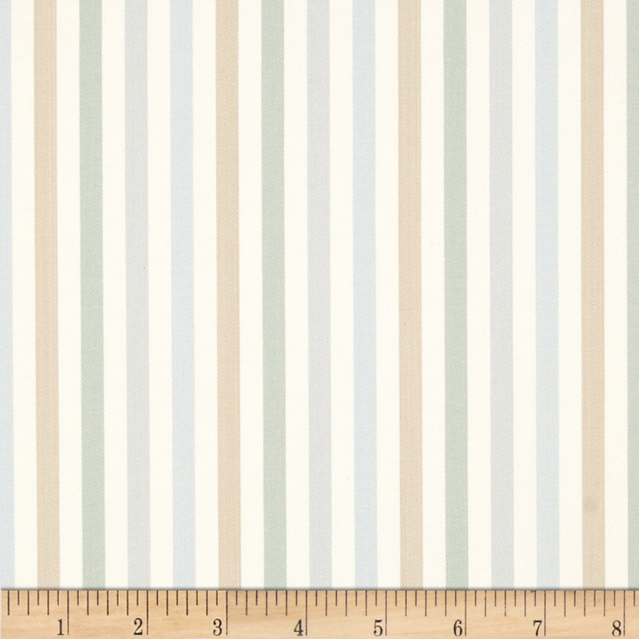 Nautica Brady Lake Stripe Twill Seaglass Fabric