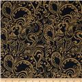 Timeless Treasures Tonga Batik Madrid Paisley Gold