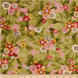 Moda Lulu Budding Bouquets Blush Fabric