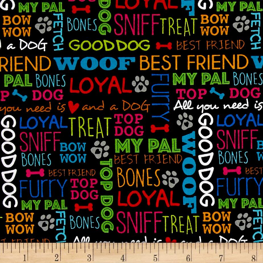 Must Love Dogs Dog Words Black