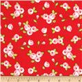 Riley Blake Kewpie Love Floral Red