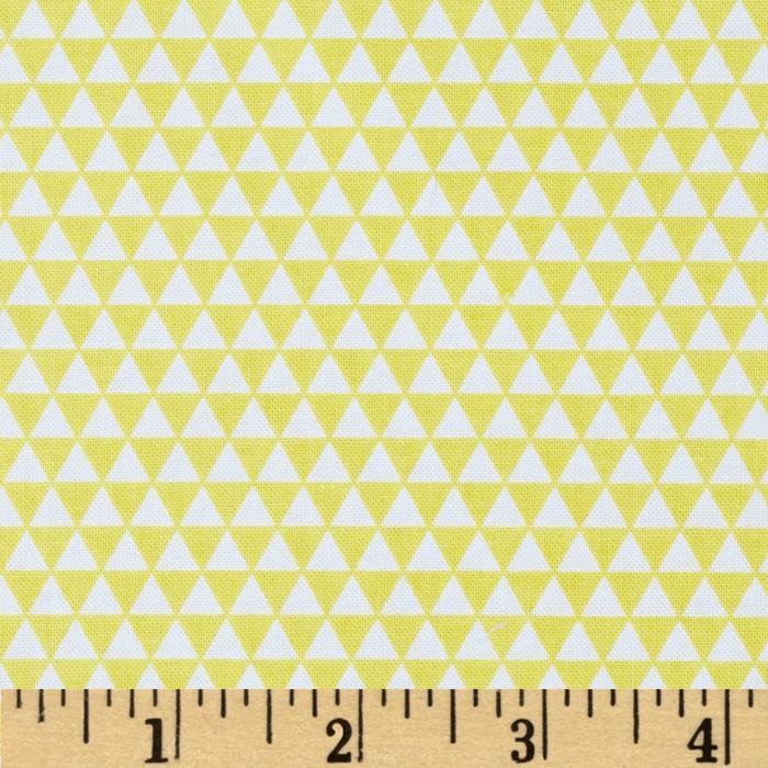 Riley Blake Oh Boy! Triangles Yellow