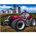 Case Red 8 Wheel Tractor Quilt Panel