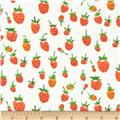 Heather Ross Briar Rose Strawberry Orange/White