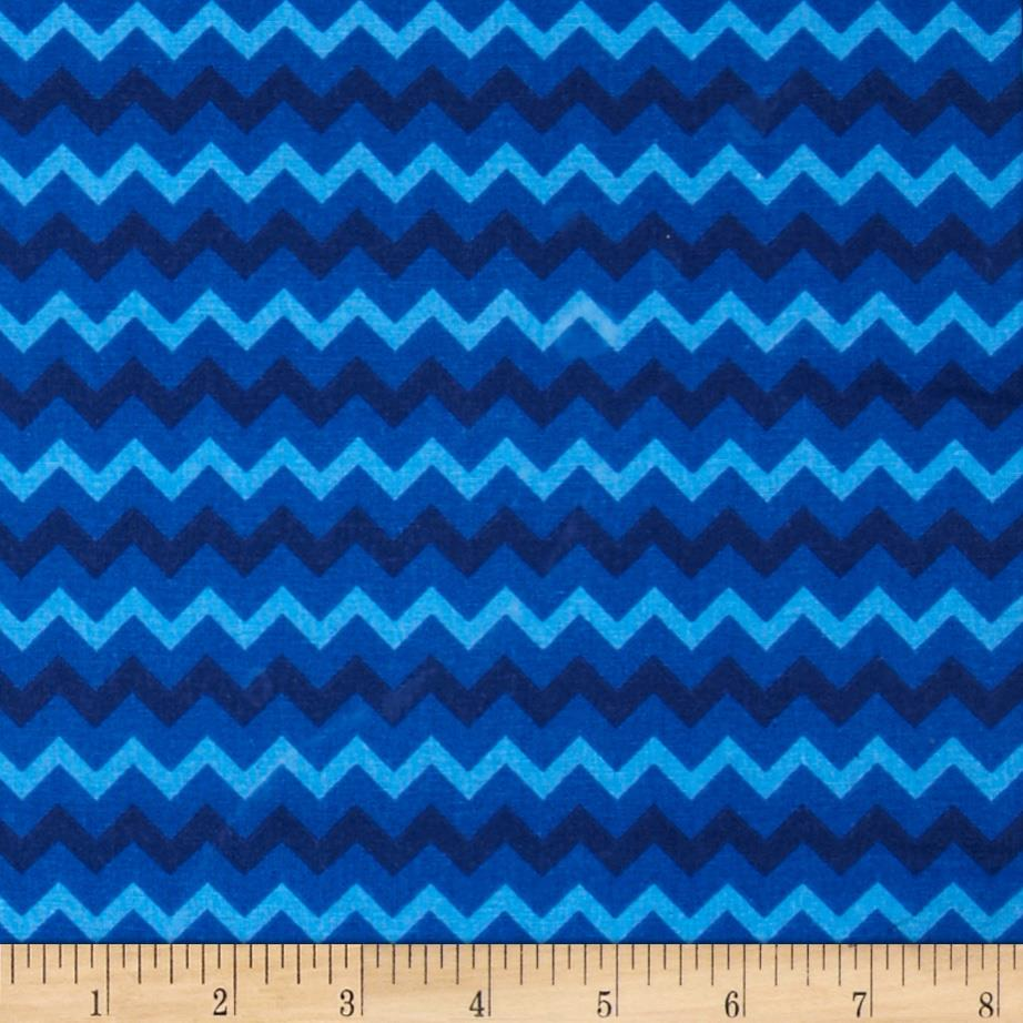 Chevron Tonal Blue