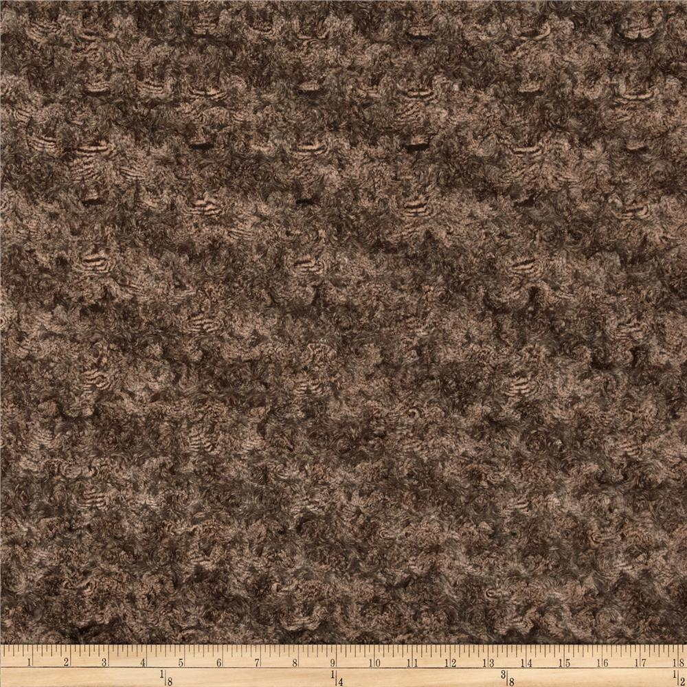 Minky Marble Rose Cuddle Brown/Beige