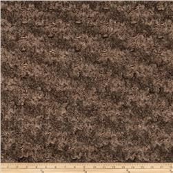 Minky Marble Rose Cuddle Brown/Beige Fabric