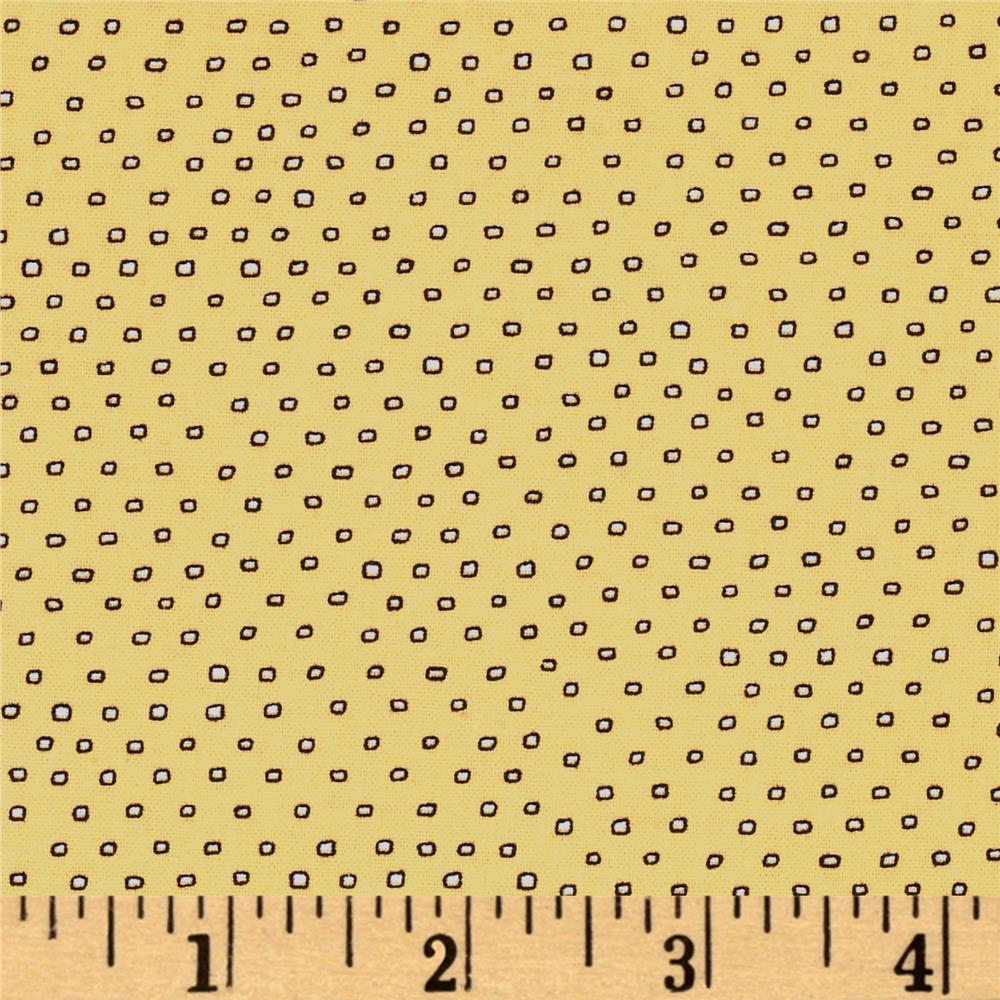 Pixie Square Dot  Yellow