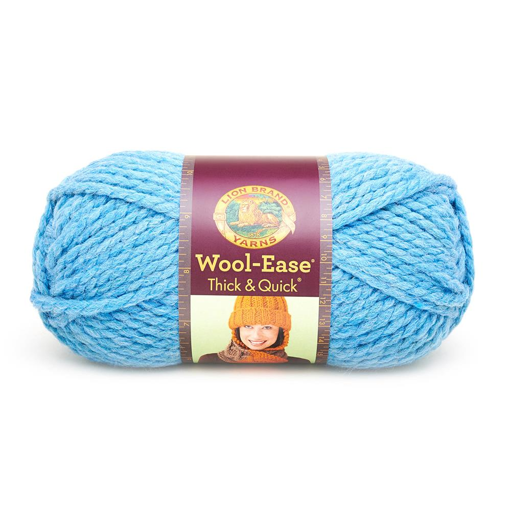 Lion Brand Wool-Ease Thick & Quick Yarn (106) Sky Blue